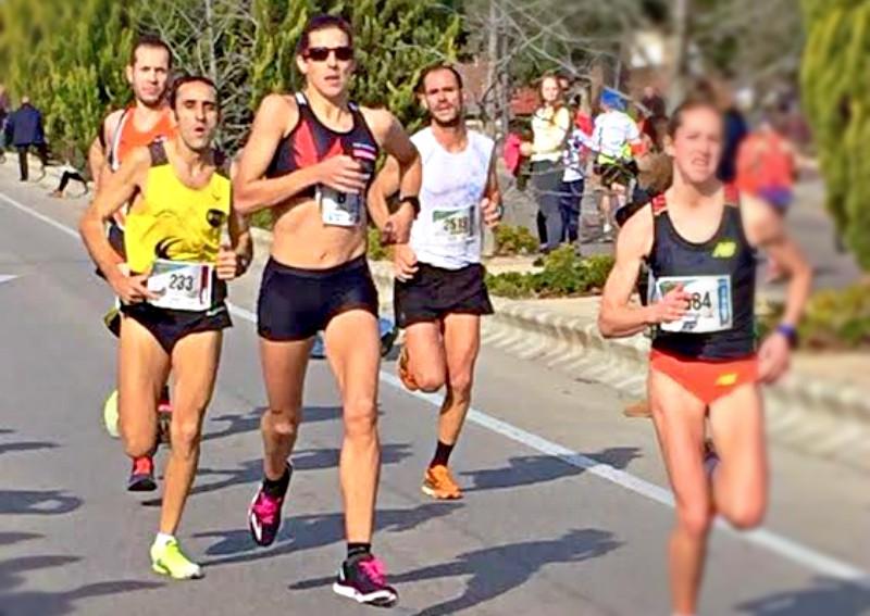 Sonia Bejarano en la Media Maratón de Getafe