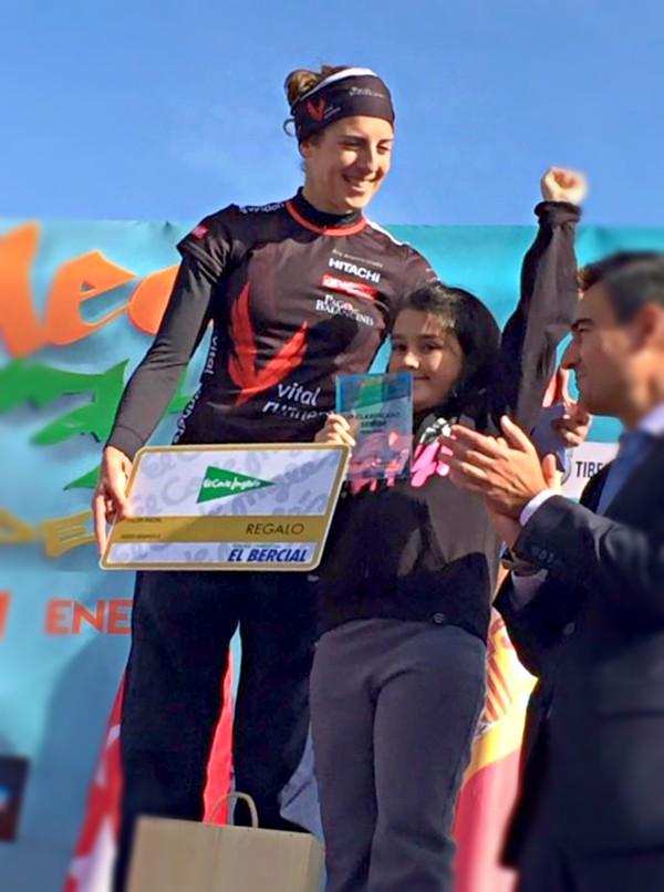 Podio de Sonia Bejarano en la Media Maratón de Getafe