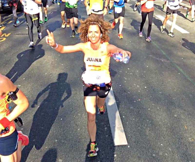 El Maratón de París de Juana Plaza