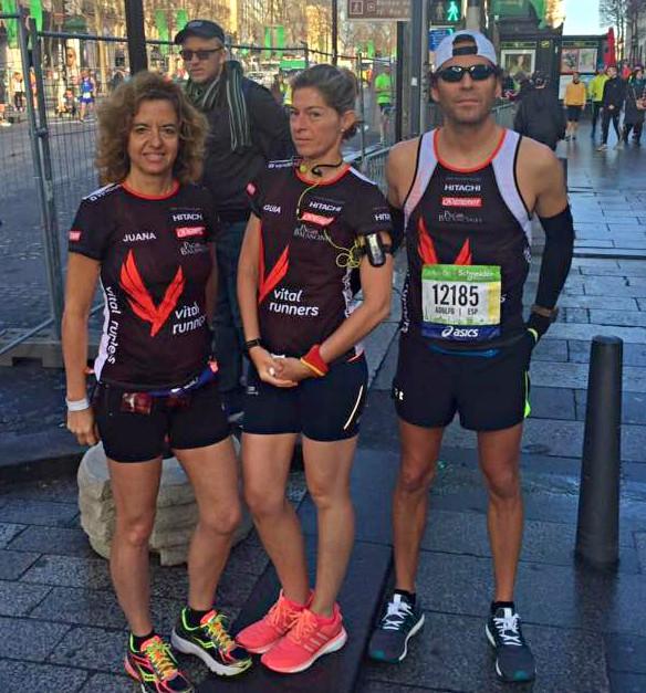 Maratón de París con Vitalrunners